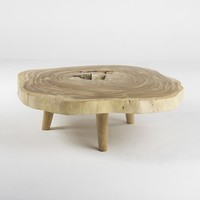 BLEACHED SLAB COFFEE TABLE 55