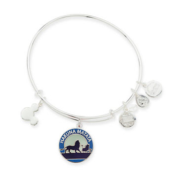 Disney Parks Lion King Hakuna Matata Charm Bangle Alex & Ani Silver New W Tags