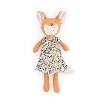 Flora Fox Doll -  in Liberty London Brambelberry Print Dress