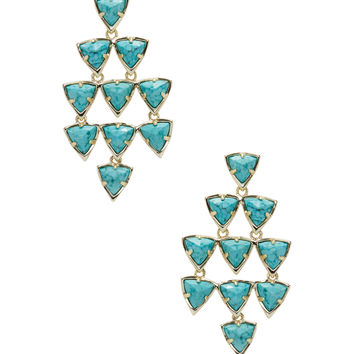 Kendra Scott Jewelry Women's Vale Turquoise Magnesite Chandelier Earrings