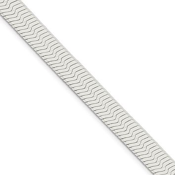 Men's 8.75mm, Sterling Silver Solid Herringbone Chain Necklace
