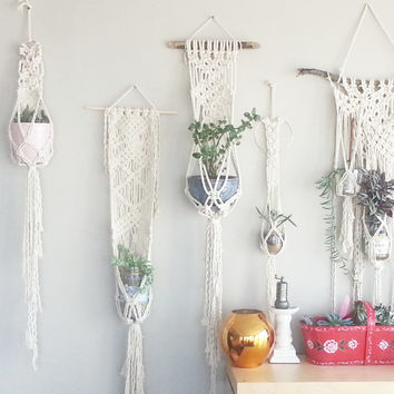 Shabby Chic Hanging Planter Wall Accent Bohemian Decor Dorm Decor
