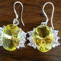 Canary Yellow Gemstone Earrings- Sterling Silver from GemEnvy