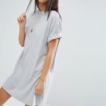 ASOS Ultimate T-Shirt Dress with Rolled Sleeves at asos.com