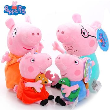 Original 19cm Peppa Pig George Friend Animal Stuffed Plush Toy Keychain Nano Doll Kawaii Birthday Gift For Kid Girl Brinquedos