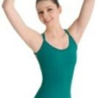Bloch Black Double Strap Seamed Leotard