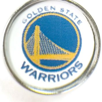 NBA Basketball Logo Golden State Warriors 18MM - 20MM Fashion Snap Jewelry Snap Charm New Item