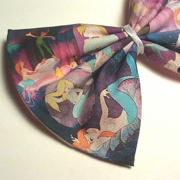 Mermaid Lagoon - Peter Pan Printed Hair Bow