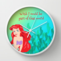 PART OF THAT WORLD  Wall Clock by Lauren Lee Designs