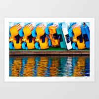 Paddle Boats Art Print by Upperleft Studios
