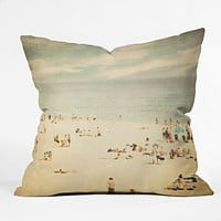 Shannon Clark Vintage Beach Throw Pillow