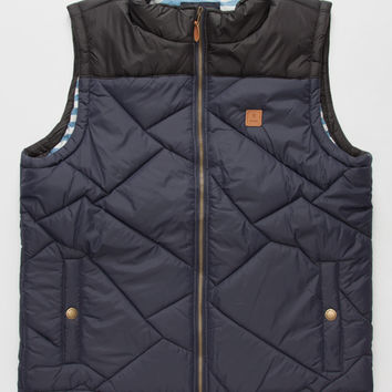 Roark Himalaya Mens Vest Navy  In Sizes