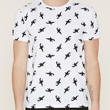 ad6f32f9a Cotton-Blend Orca Graphic Tee | 21 MEN - from Forever 21