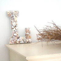 Sea Shell Letter Beach Decor  custom made to by KimberlyAnnMarie