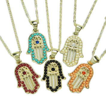 Christmas Thanksgiving Gift FATIMA Jewelry Gift New Arrival Shiny Stylish Accessory Necklace [8269882177]