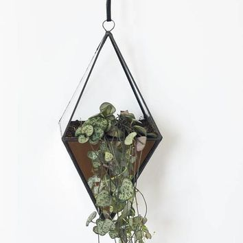 Geometric terrarium with mirrored glass - Indoor