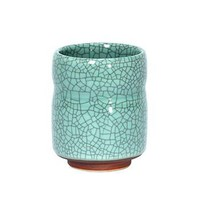 Crackle finish Japanese tea cup - Celedon