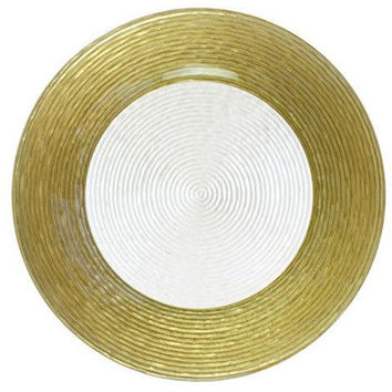 Gold Circle Plate