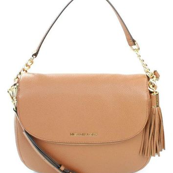 ONETOW Michael Kors Bedford Tassel Crossbody Leather Bag