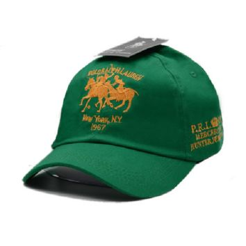 Green Polo Embroidered 100% Cotton Adjustable Cap