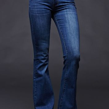 House of Harlow High Rise Virgo Flare Jeans - Womens Jeans - Blue - SZ