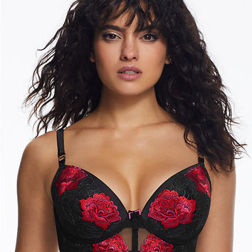 Ann Summers Cire Rose Longline Bra 01BRLLAS1072 at BareNecessities.com
