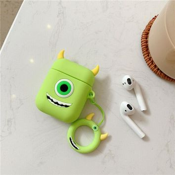 Mike Wazowski Monsters Inc Monsters University Pixar Apple Airpods Case FREE SHIPPING