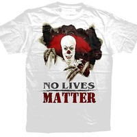 IT t-shirt, No lives matter, Pennywise, Clown, We all float down here t shirt, Stephen King