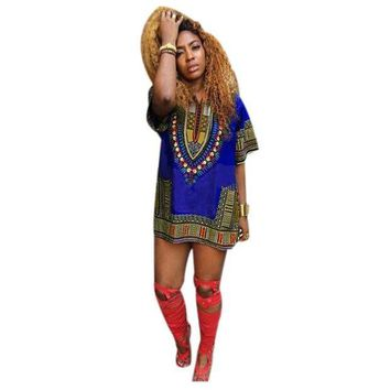 DCCKH0D African   Straight Print Dresses