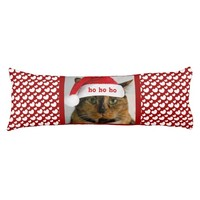 Cute Xmas Cat with Red White Polka Dot Hearts