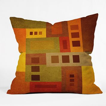 Viviana Gonzalez Textures Abstract 17 Throw Pillow