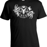 Aries Shirt Zodiac Gift For Birthday Month Horoscope T Shirt Bday Present Astrology TShirt Legends Are Born In April Mens Ladies Tee DAT-898