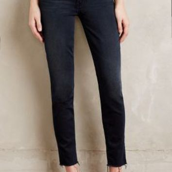 Mother Looker Ankle Fray Jeans in Slightly Sinful Size: