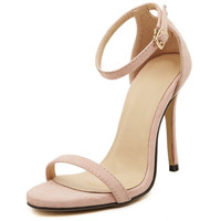 ankle strap Classic High Heel  sexy beige Sandals
