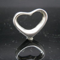 Floating Heart Pendant Sterling Silver