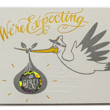 Scratch Off Stork Surprise Card- Girl