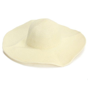 Female Summer Sunshade Large Wide Floppy Brim Straw Beach Hats