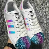 Adidas Shamrock SUPERSTAR metal shell head  shoes COLORFUL
