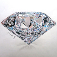 Colorful Diamond Pencil Drawing