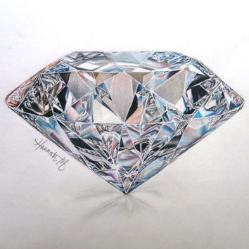 colorful diamond pencil drawing from drawing2inspire on