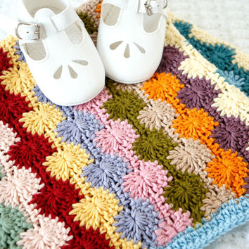 baby blanket pattern crochet tutorial project PDF pattern baby blanket car seat afghan baby