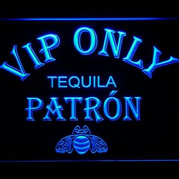 474 VIP Only Patron Tequila LED Neon Sign with On/Off Switch 20+ Colors 5 Sizes to choose