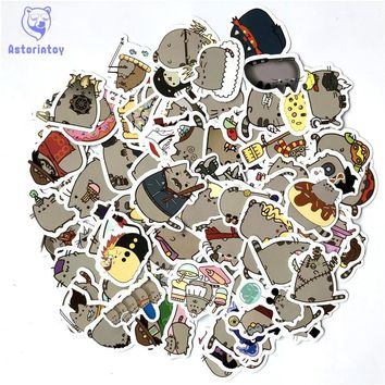 100Pcs/lot Cartoon Cat Stickers For Laptop