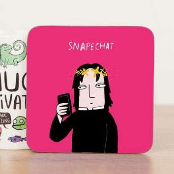 Snape Chat - Harry Potter Coaster Gift - Cute Coaster - Pun - Funny Coaster - Gift for him - Gift for her - Teen Gift - Mat -