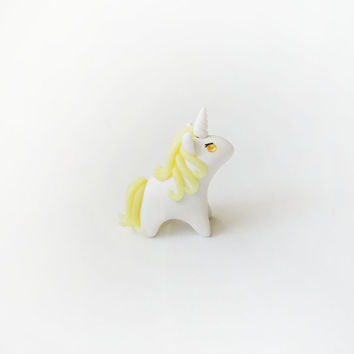 SALE Citrine Yellow Gemstone Unicorn Figure