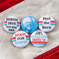 "Bernie Sanders Pin - Bernie Sanders Button Feel the Bern Bernie 1"" Pin 2016 Political Presidential Election Proceeds to Volunteer"