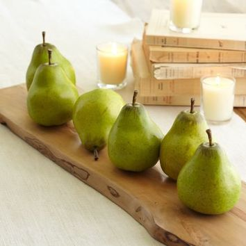 Green Pear Vase Filler | Pottery Barn