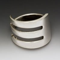 Silver Spoon Silver Plate Fork Ring