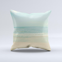 The Relaxed Beach ink-Fuzed Decorative Throw Pillow