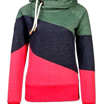 Polo Neck Warm Hoody Hoodie Sweatshirt Jumper